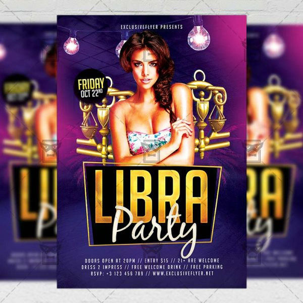 Download Libra Party PSD Flyer Template Now