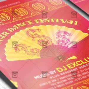 Download Lunar Dance Festival PSD Flyer Template Now
