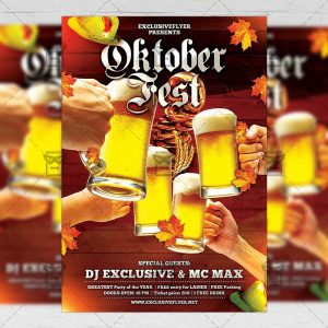 Download Octoberfest Celebration PSD Flyer Template Now