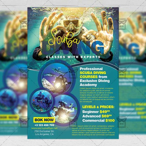 Download Scuba Diving PSD Flyer Template Now