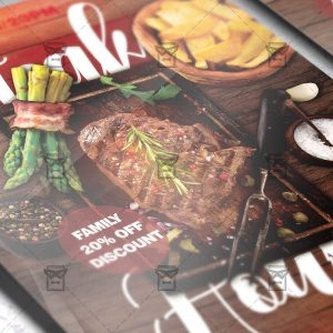 Download Steak House PSD Flyer Template Now