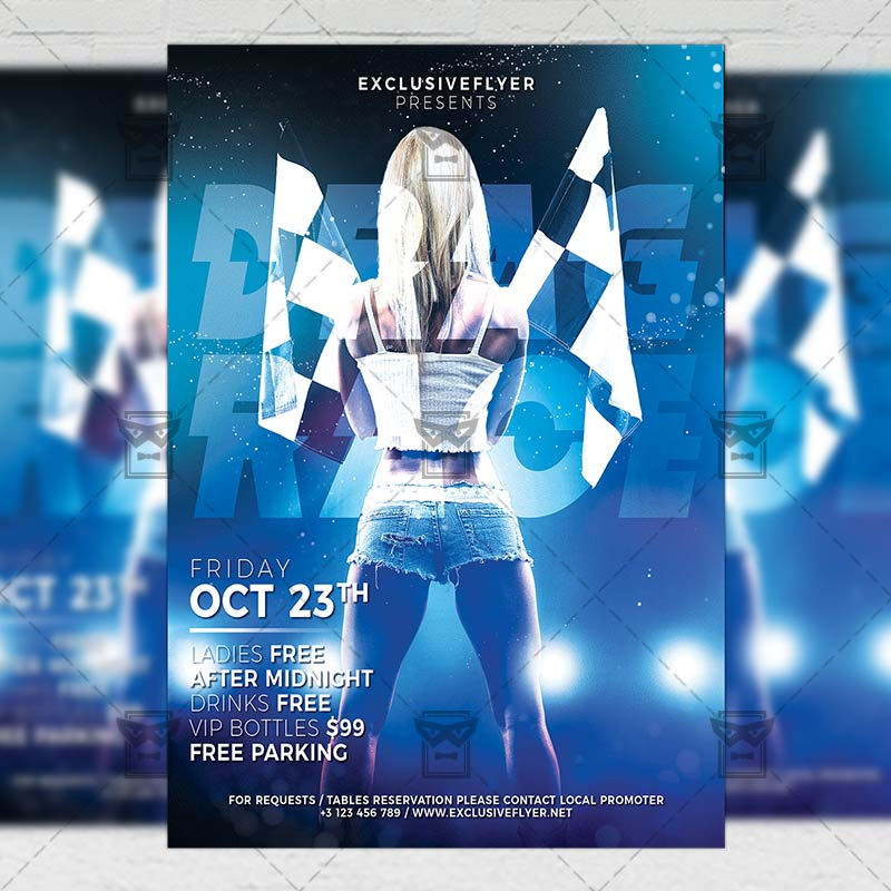 street racing flyer sport a5 template exclsiveflyer free and