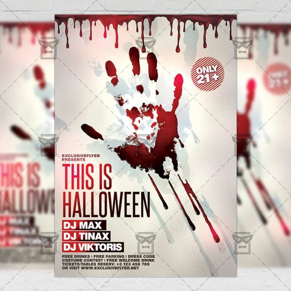 Download This is Halloween PSD Flyer Template Now