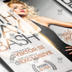 Download Birthday Bash PSD Flyer Template Now