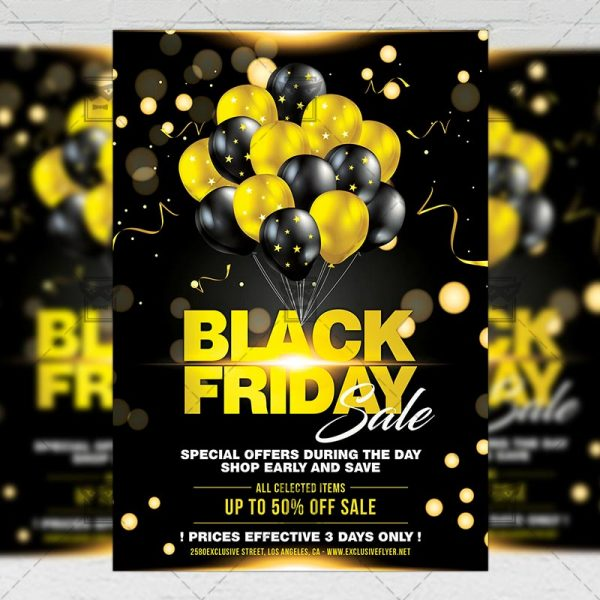 Download Black Friday Sale 2019 PSD Flyer Template Now