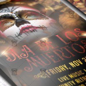 Download Dia de Los Muertos PSD Flyer Template Now