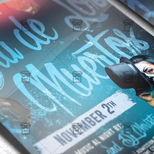 Download Dia de Los Muertos Festival PSD Flyer Template Now