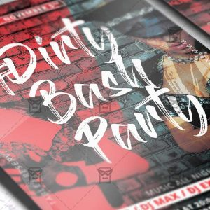 Download Dirty Bash Party PSD Flyer Template Now