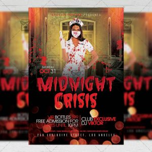 Download Midnight Crisis PSD Flyer Template Now
