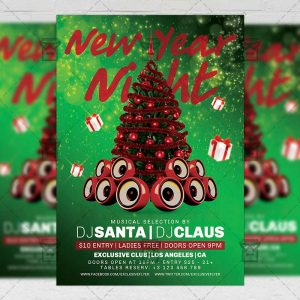 Download New Year 2019 PSD Flyer Template Now