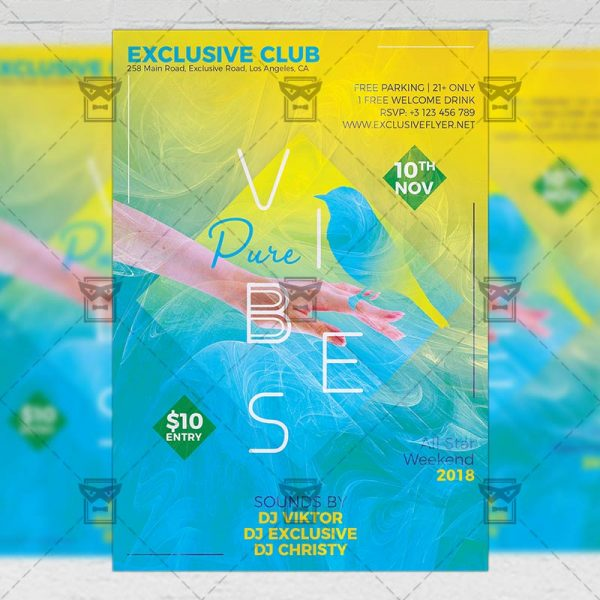 Download Pure Vibes PSD Flyer Template Now