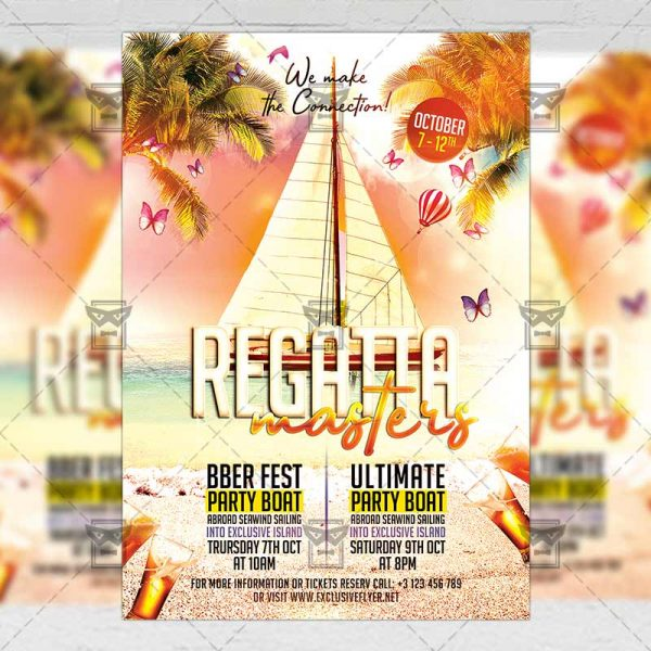 Download Regatta Masters PSD Flyer Template Now