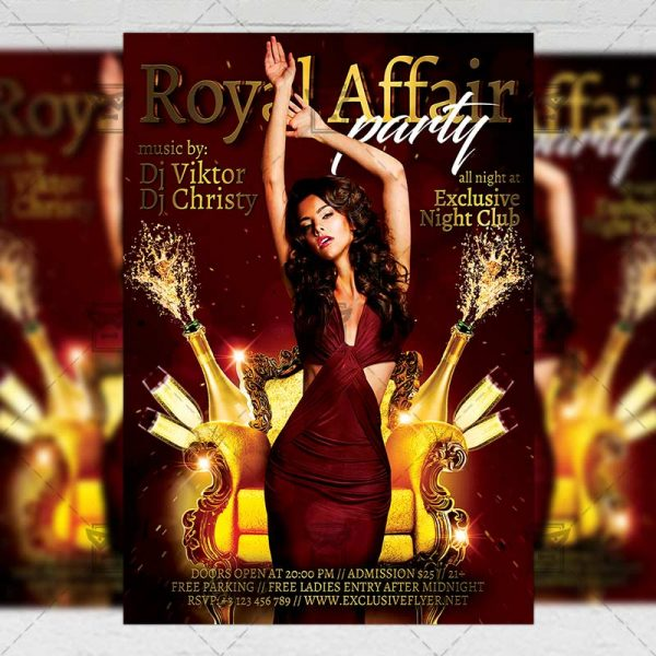 Download Royal Affair PSD Flyer Template Now