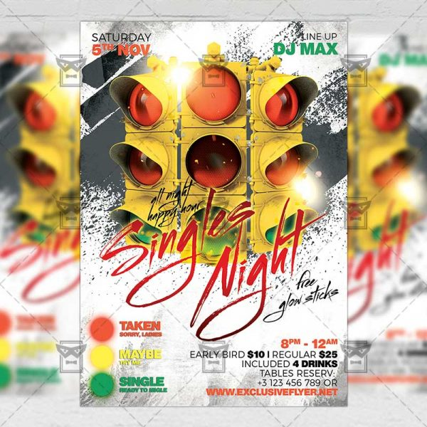 Download Singles Night PSD Flyer Template Now