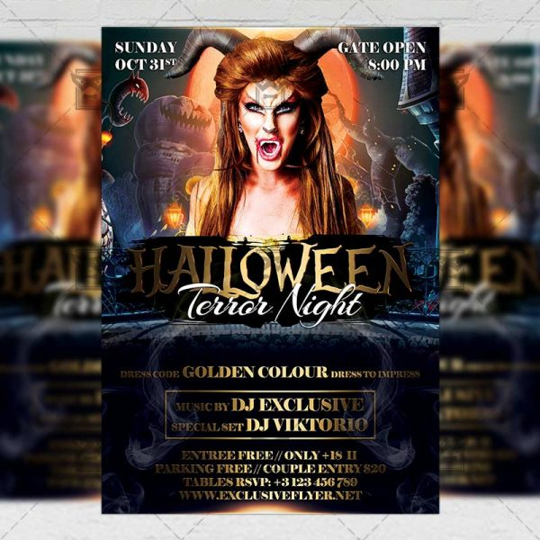 Download Terror Night PSD Flyer Template Now