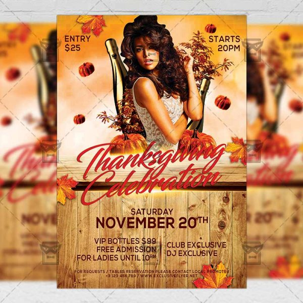 Download Thanksgiving Celebration PSD Flyer Template Now