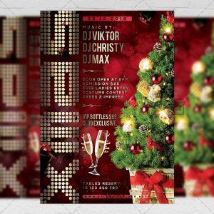 Download Xmas Night 2019 PSD Flyer Template Now