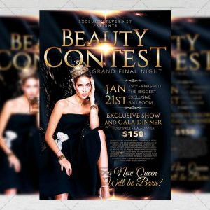 Download Beauty Contest PSD Flyer Template Now