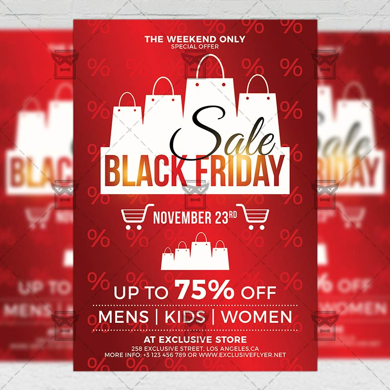 Black Friday 2019 Flyer Business A5 Template Exclsiveflyer Free And Premium Psd Templates
