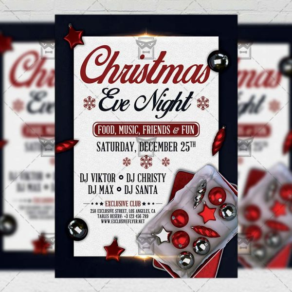 Download Christmas Eve PSD Flyer Template Now