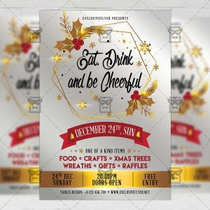 Download Eat Drink and be Cheerful PSD Flyer Template Now