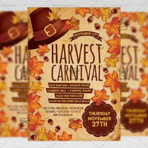 Download Harvest Carnival PSD Flyer Template Now