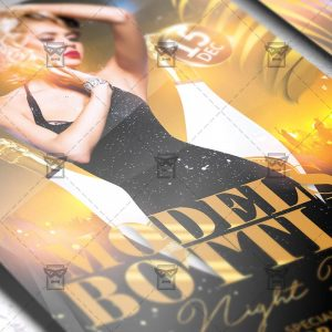 Download Models and Bottles Night PSD Flyer Template Now