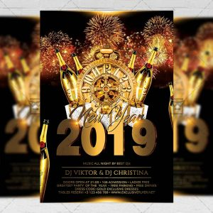 Download New Year Celebration PSD Flyer Template Now