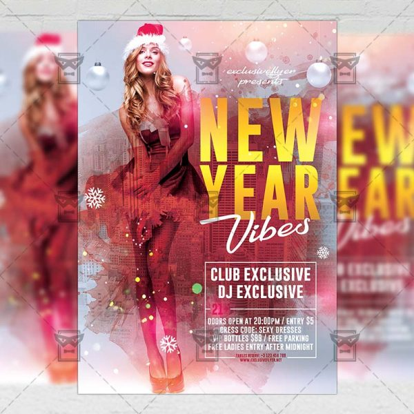 Download New Year Vibes PSD Flyer Template Now