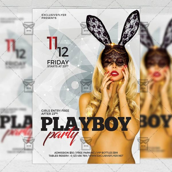 Download Playboy Night PSD Flyer Template Now