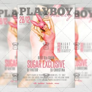 Download Playboy Party PSD Flyer Template Now