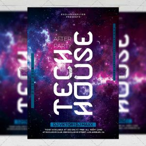 Download Tech House After Party PSD Flyer Template Now