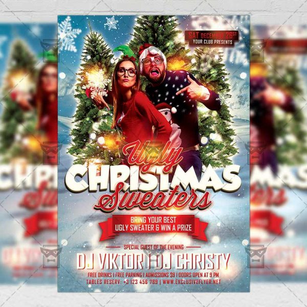 Download Ugly Christmas PSD Flyer Template Now