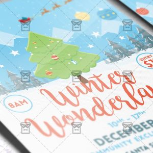Download Winter Wonderland PSD Flyer Template Now