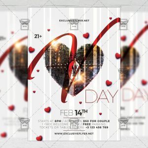 Download V-Day Celebration PSD Flyer Template Now