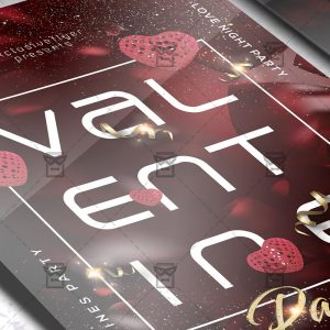 Download V-Day Party PSD Flyer Template Now