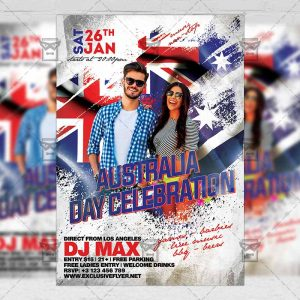 Download Australia Day Celebration Party PSD Flyer Template Now