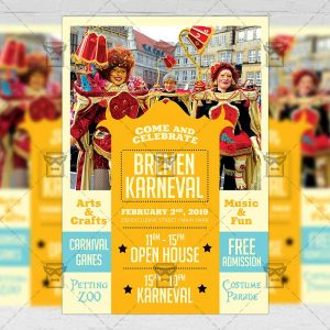 Download Bremen Karneval PSD Flyer Template Now