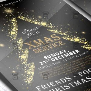 Download Christmas Service PSD Flyer Template Now