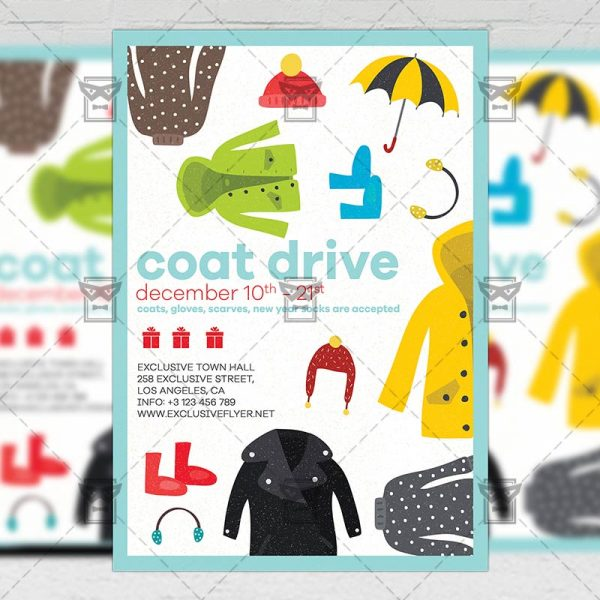 Download Coat Drive PSD Flyer Template Now
