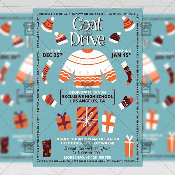 Download Coat Drive Event PSD Flyer Template Now