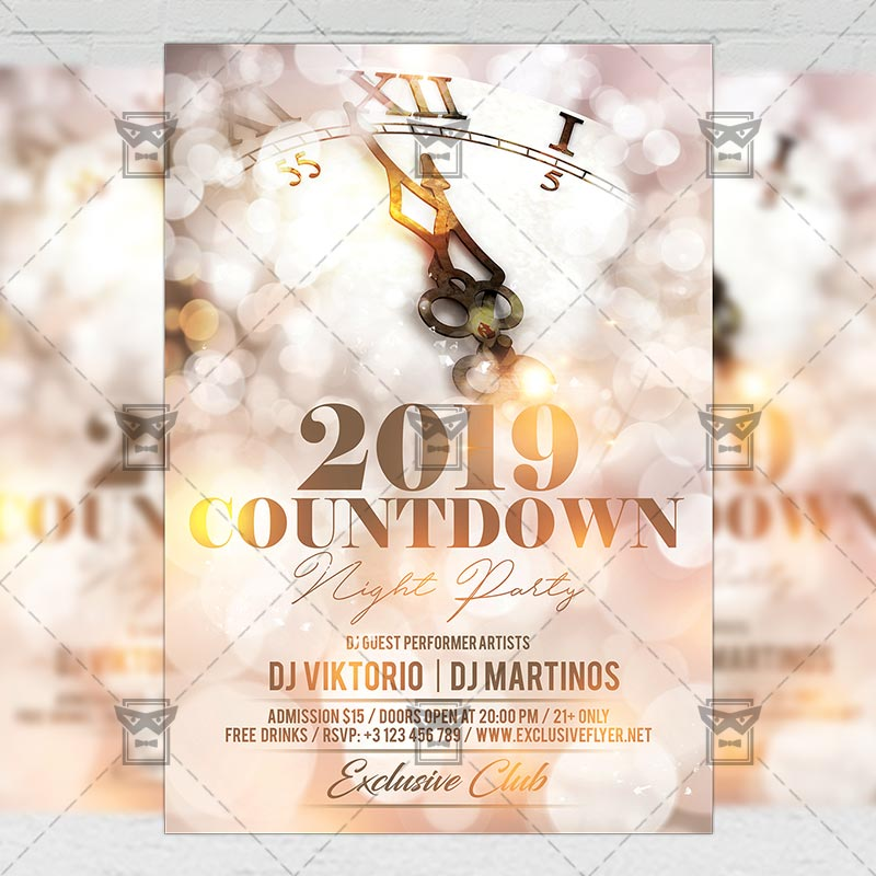 15 Excellent Flyer Templates For Your Next Event: Countdown Night Party Flyer
