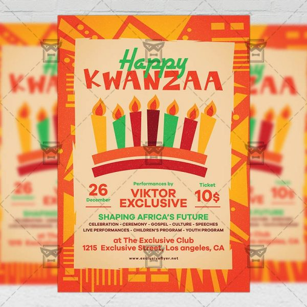 Download Happy Kwanzaa PSD Flyer Template Now