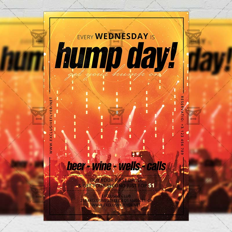 Hump Day Flyer Club A5 Template Exclsiveflyer Free