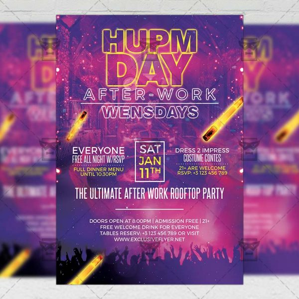 Download Hump Day Party PSD Flyer Template Now