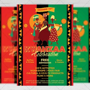 Download Kwanzaa Celebration PSD Flyer Template Now