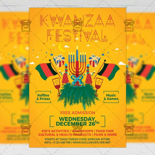 Download Kwanzaa Festival PSD Flyer Template Now