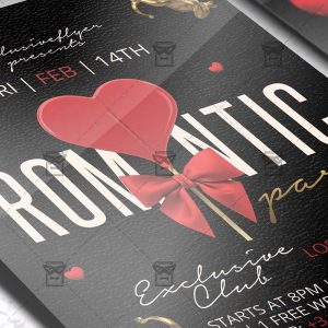 Download Romantic Party PSD Flyer Template Now