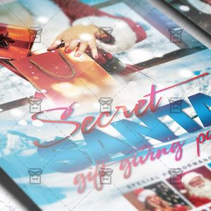 Download Secret Santa Party PSD Flyer Template Now