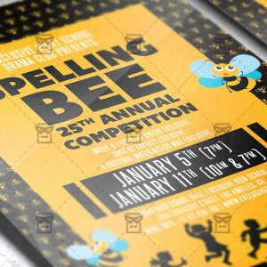 Download Spelling Bee Competition PSD Flyer Template Now